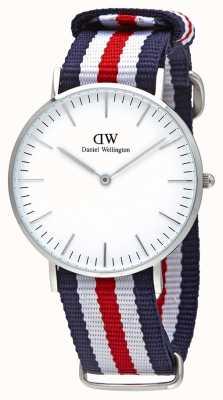 Daniel Wellington Dames blauw canvas quartz analoog horloge DW00100051