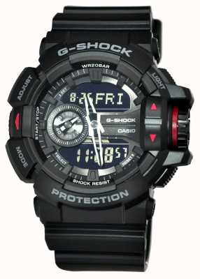 Casio Heren g-shock zwart chronograaf horloge GA-400-1BER