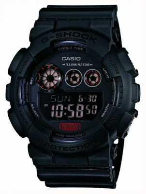 Casio Mens g-schok mat zwart kunststof band GD-120MB-1ER