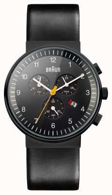 Braun Mens chronograaf allemaal zwart horloge BN0035BKBKG