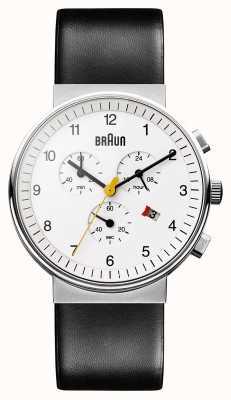 Braun Unisex klassieke chronograaf BN0035WHBKG