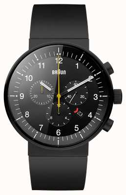 Braun Mens prestige zwarte chronograaf horloge BN0095BKBKBKG