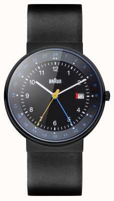 Braun Unisex klassieke dubbele tijd horloge BN0142BKBKG