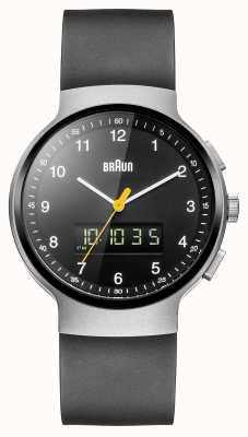 Braun Zilver gemarmerd ana-digi horloge Gent BN0159SLBKBKG