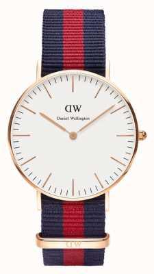 Daniel Wellington Dames blauw nylon quartz analoog horloge DW00100029