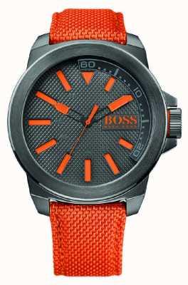 Hugo Boss Orange Mens new york horloge met oranje bandje 1513010