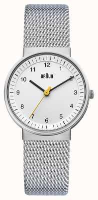 Braun Dames zilveren wit horloge BN0031WHSLMHL
