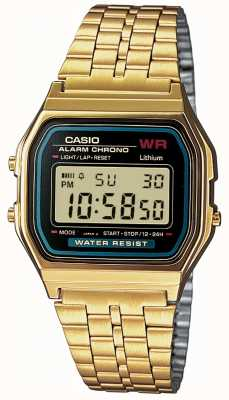 Casio Digitale retro heren verguld A159WGEA-1EF