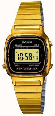 Casio Womens digitale armband retro verguld LA670WEGA-1EF