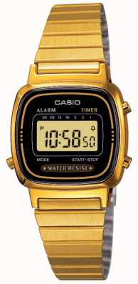 Casio Dames digitale armband retro verguld LA670WEGA-1EF