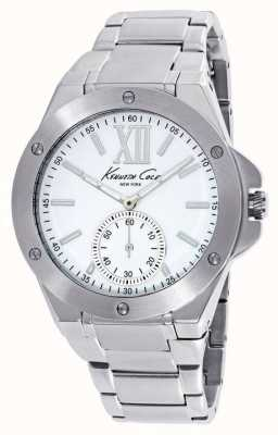 Kenneth Cole Ladies RVS witte wijzerplaat KC10020844