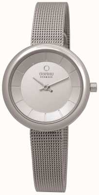 Obaku Ladies roestvrijstalen gaas armband V146LXCIMC