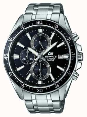 Casio Edifice RVS zwarte chronograaf EFR-546D-1AVUEF