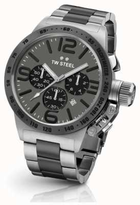 TW Steel Mens kantine 45mm chrono two tone grijze wijzerplaat CB203
