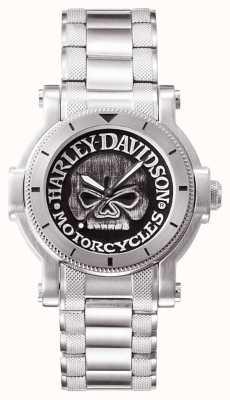 Harley Davidson Mens willie g schedel polshorloge 76A11