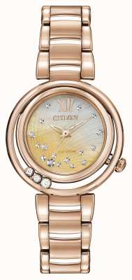 Citizen Sunrise rose goud eco-rijden EM0323-51N