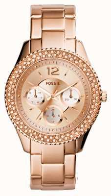 Fossil Dames stella rose goud pvd verguld ES3590