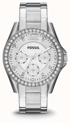 Fossil Dames riley roestvrij staal ES3202