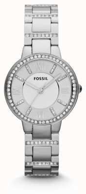 Fossil Womens Virginia roestvrij staal ES3282