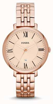 Fossil Dames jacqueline rose goud pvd verguld ES3435