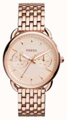 Fossil Womens maat rose goud pvd verguld ES3713