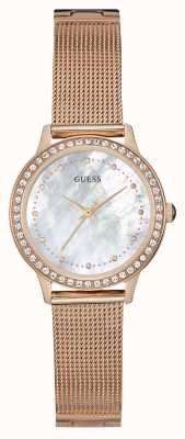 Guess Dames chelsea rose goud mesh band W0647L2