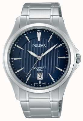 Pulsar Gents roestvrijstalen blauwe wijzerplaat PS9385X1