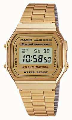 Casio Unisex vergulde retro digitale collectie A168WG-9EF