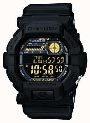 Casio G-shock horloge met trilalarm 5 zwart geel GD-350-1BER