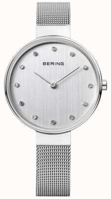 Bering Dames | roestvrij stalen gaasband | zilveren wijzerplaat | 12034-000