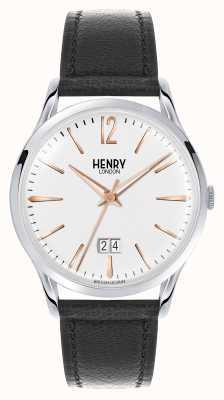 Henry London Highgate bruine lederen riem witte wijzerplaat HL41-JS-0067