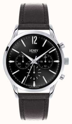 Henry London Edgware zwart lederen band chronograaf HL41-CS-0023