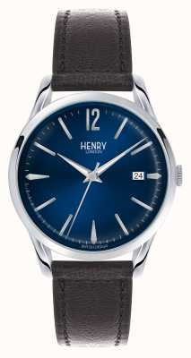 Henry London Knightbridge blauwe wijzerplaat - zoals te zien op tv HL39-S-0031