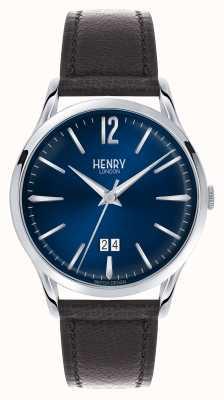 Henry London Knightsbridge horloge | bruine lederen band | HL41-JS-0035