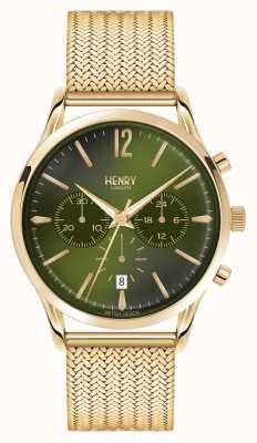 Henry London Chiswick verguld mesh chronograaf HL41-CM-0108