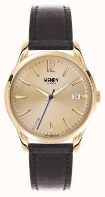 Henry London Westminster bruin lederen band champagne HL39-S-0006