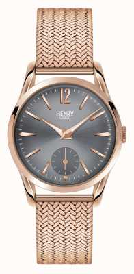 Henry London Finchley rose goud gaas grijze wijzerplaat HL30-UM-0116