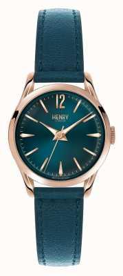 Henry London Stratford blauwe lederen band blauwe wijzerplaat HL25-S-0128