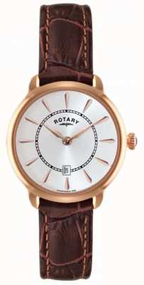 Rotary Dames bruine lederen band horloge LS02919/03