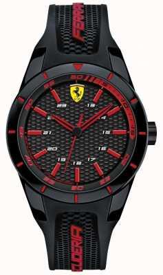 Scuderia Ferrari Unisex rode rev zwarte rubberen band 0840004