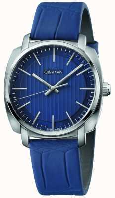 Calvin Klein Mens highline blauwe lederen band blauwe wijzerplaat K5M311VN