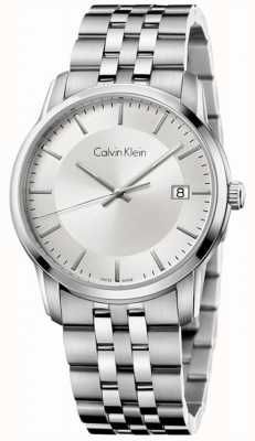Calvin Klein Heren oneindige roestvrij staal zilveren wijzerplaat K5S31146