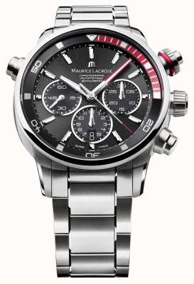 Maurice Lacroix Heren zwart canvas automatische analoog horloge PT6018-SS002-330-1