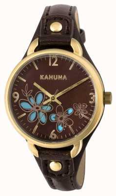 Kahuna Vrouwen bruine band bruine wijzerplaat KLS-0308L