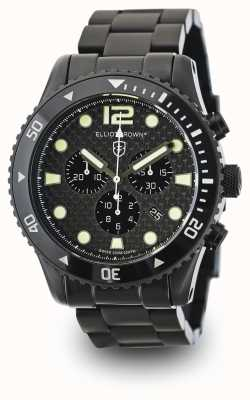 Elliot Brown Heren Bloxworth zwarte pvd vergulde carbon wijzerplaat 929-002-B03