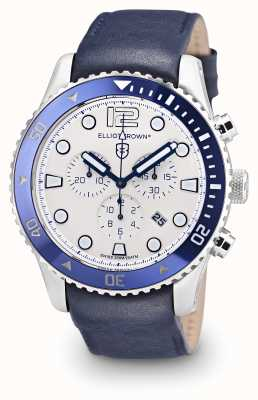 Elliot Brown Mannen bloxworth blauw leer room dial 929-008-L06