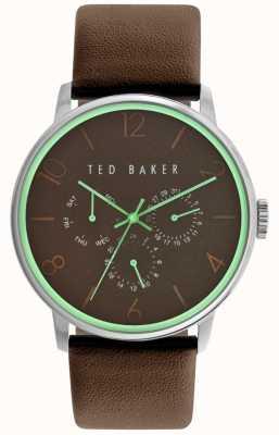 Ted Baker Mens bruin lederen band bruine wijzerplaat TE10023496