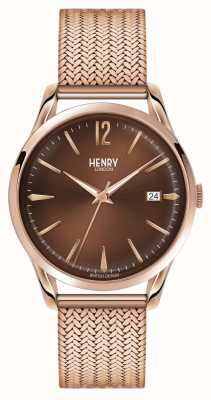 Henry London Unisex eg rose goud pvd verguld HL39-M-0050