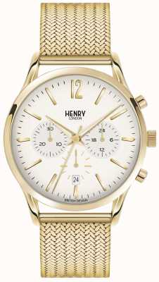 Henry London Mens westminster goud pvd verguld mesh HL41-CM-0020