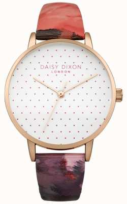 Daisy Dixon Womens suki rose gloss lederen band horloge DD008PRG